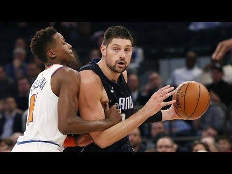 Nikola Vucevic 34 Pts 12 Rebs! Jonathan Simmons Put Back Slam! Magic vs Knicks 2017-18 Season