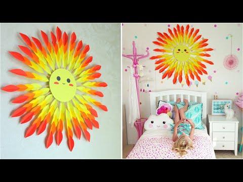 Как украсить комнату своими руками из бумаги /Милый декор детской комнаты без денег
