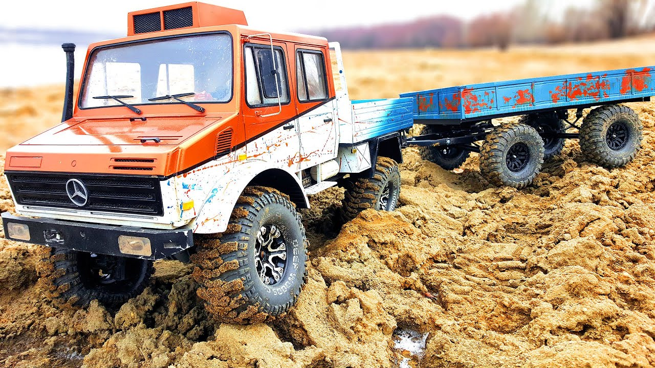 CAR MERCEDES UNIMOG and NEW Trailer | Wilimovich