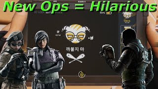New Operators Are Hilarious! Operation White Noise - Rainbow Six Siege Funny Moments