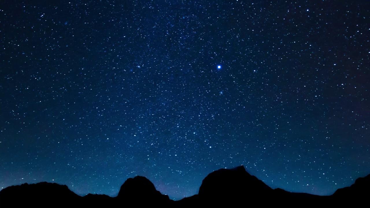 fast motion night full of stars 4k relaxing screensaver youtube