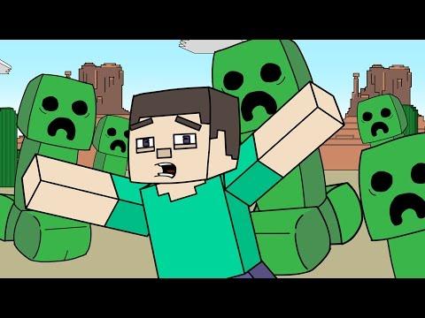 "Download Youtube: Minecraft Parody   ""Creepzilla"""