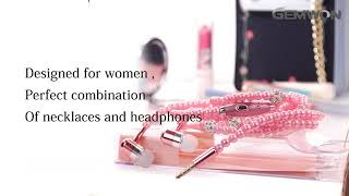 Fashionable Jewelry pearl Necklace earphones Stereo