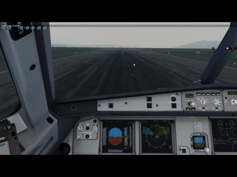 FlightFactor Airbus A-320. Full flight LEXJ-LEAS. Santander-