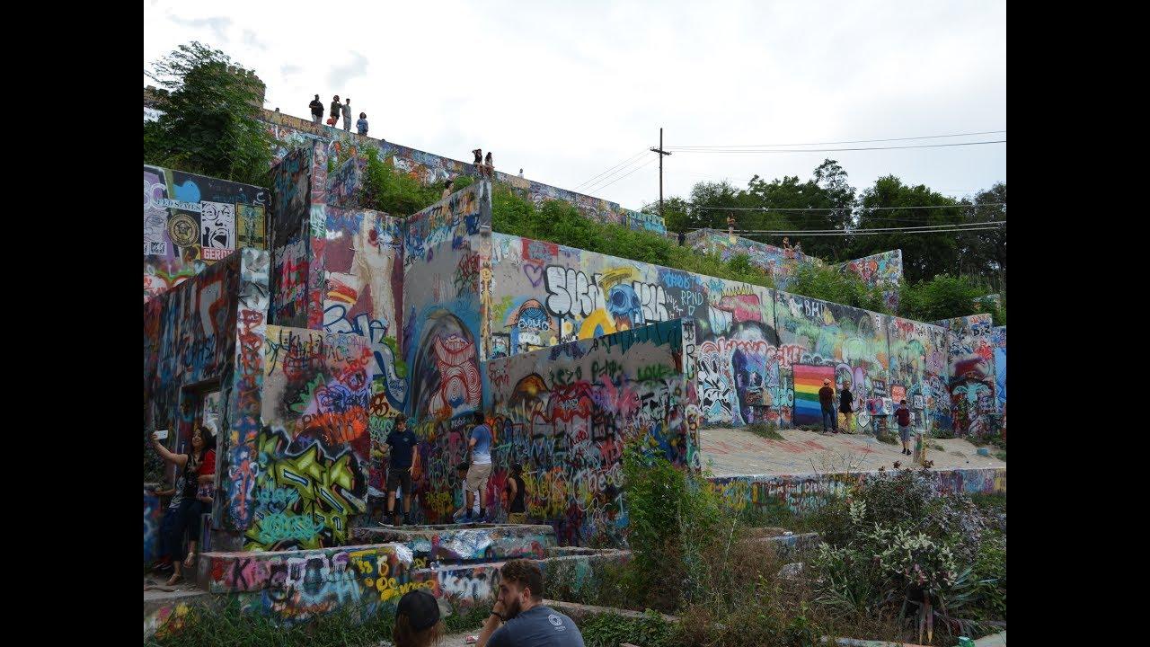 a1ae3d778fc Exploration of Graffiti Park in Austin Texas - YouTube