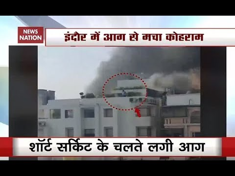 Watch: Youth Trapped At Roof Of Burning Indore Hotel