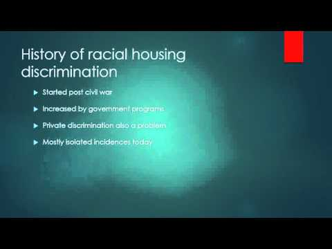 Housing Discrimination in the United States