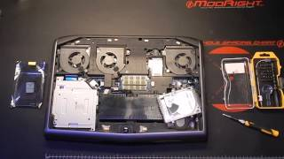 How to install an additional hard drive in Alienware Laptop