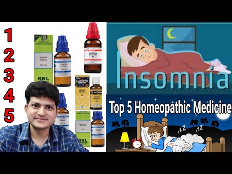 Top 5 Homeopathic medicine for insomnia ?