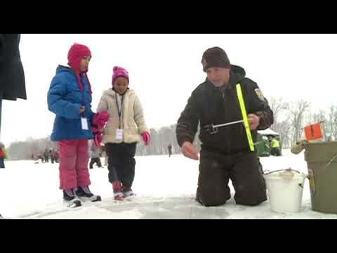 U.S. Fish and Wildlife Service holds Ice Fishing for Kids