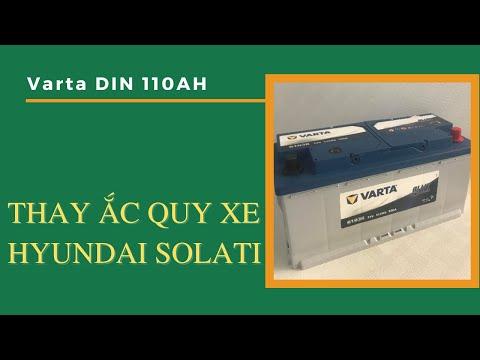 Thay ắc quy xe Hyundai Solati   Bình ắc quy Varta 110Ah DIN 61038
