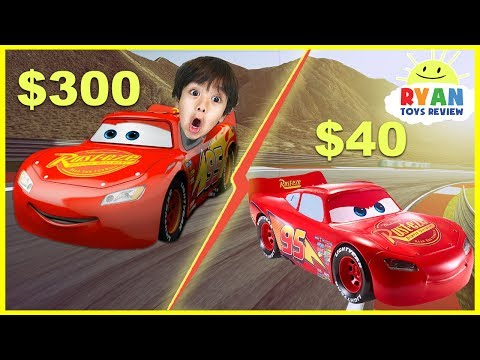 Disney Cars 3 $40 Lightning McQueen vs $300 Lightning McQueen Remote Control Toy Cars