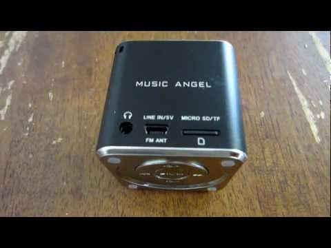 MUSIC ANGEL MINI SPEAKER AND MP3 PLAYER