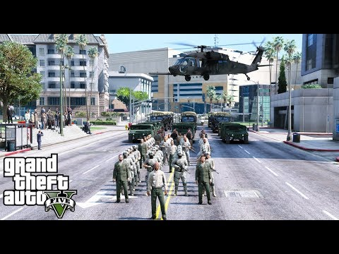 GTA 5 Veterans Day Parade & Air Show Celebrating The Members Of The United States Armed Forces
