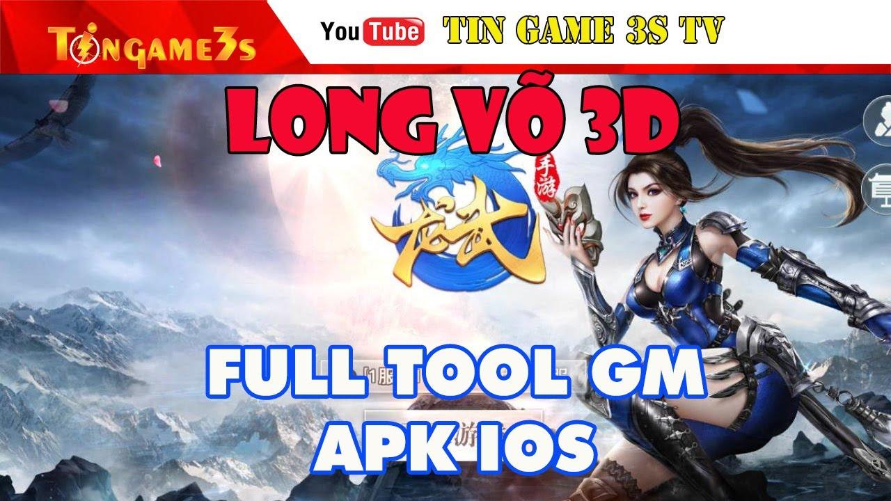 Game Mobile Private | Game Long Võ 3D Full Tool GM Kim Cương Vật Phẩm | APK IOS | Tingame3s