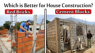Which is Better f๐r House Construction? Red Bricks or Cement Blocks
