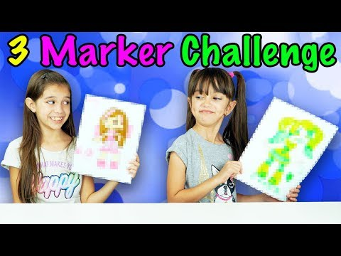 3 MARKER CHALLENGE - TwoSistersToyStyle