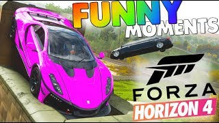 IDIOTS BREAK FORZA HORIZON 4 | FUNNY MOMENTS, Traffic Glitch & Jumping From the MOUNTAIN!?