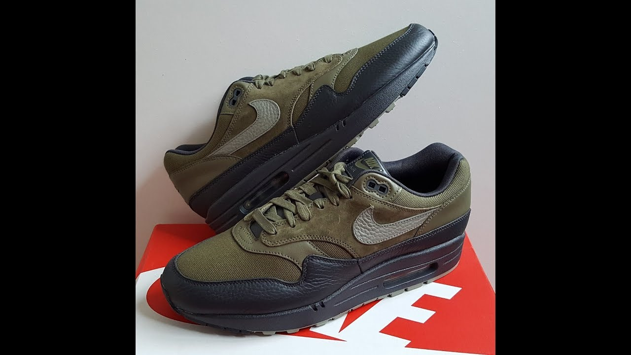 unboxing unboxing NIKE Air Max Prm Premium Medium Olive Dark Stucco Anthracite code 875844 201