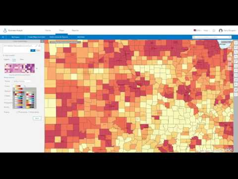Color Coded Maps in Business Analyst