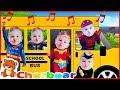 Superhero Babies Wheels on the Bus | Kids Songs & Nursery Rhymes Baby Superheroes Children Song