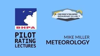 BHPA Pilot rating - Meteorology Part 1