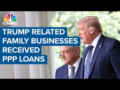 Family businesses associated with Donald Trump officials received small business loans