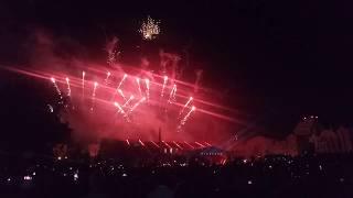 Салют и световое шоу на день города Липецка 2019