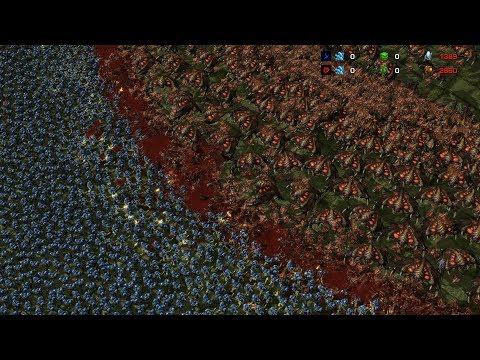 1000 BROOD LORDS vs 5000 MARINES - Starcraft 2 MASSIVE Battle