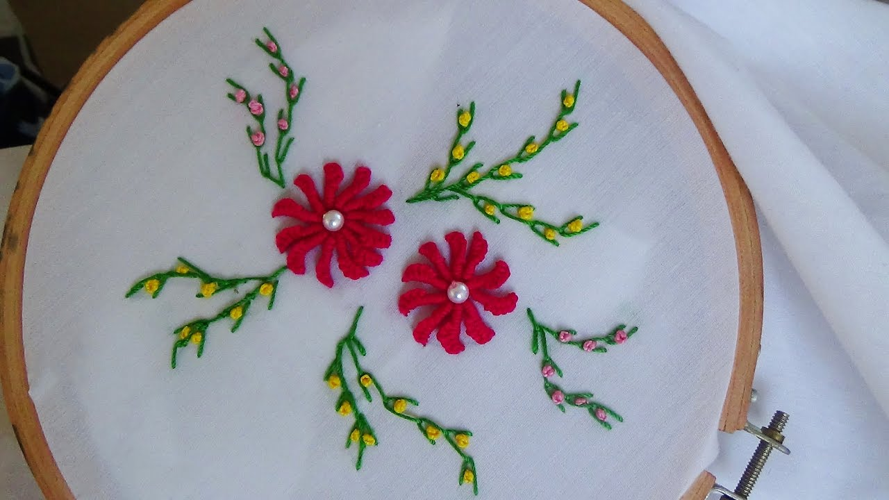 Hand Embroidery: Caston bullion stitch - YouTube