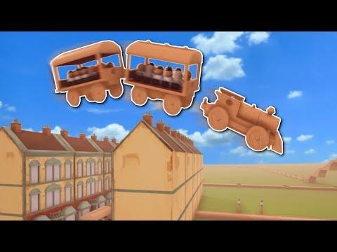 SUPER FAST TRAIN JUMPS HOUSES?! - Tracks: The Train Set Game Gameplay - Building Train Tracks!