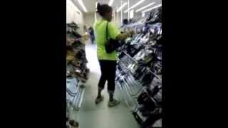 ANOTHER GANGSTALKER PRETENDING TO SHOP WHILE GPSING MY LOCATION-17 MAR 12