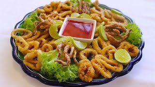 Fried calamari rings - easy fast and delicious recipe