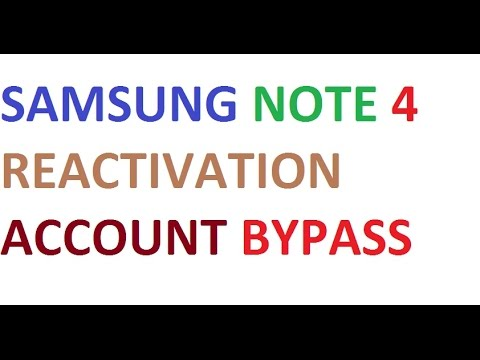 samsung note 4 reactivation account bypass 100% working solution 2018