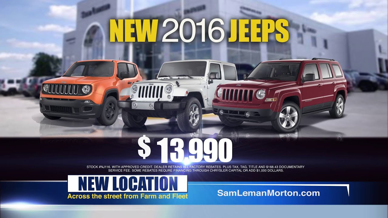 "Sam Leman Chrysler Dodge Jeep Ram Morton ""Who s 1 "" 1 2016"