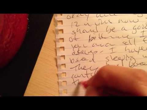 ASMR: Writing Sounds Test   pen & paper