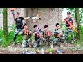 LTT Game Nerf War : Winter Warriors SEAL X Fight Criminal Group Skill Nerf Guns Bandits Goods