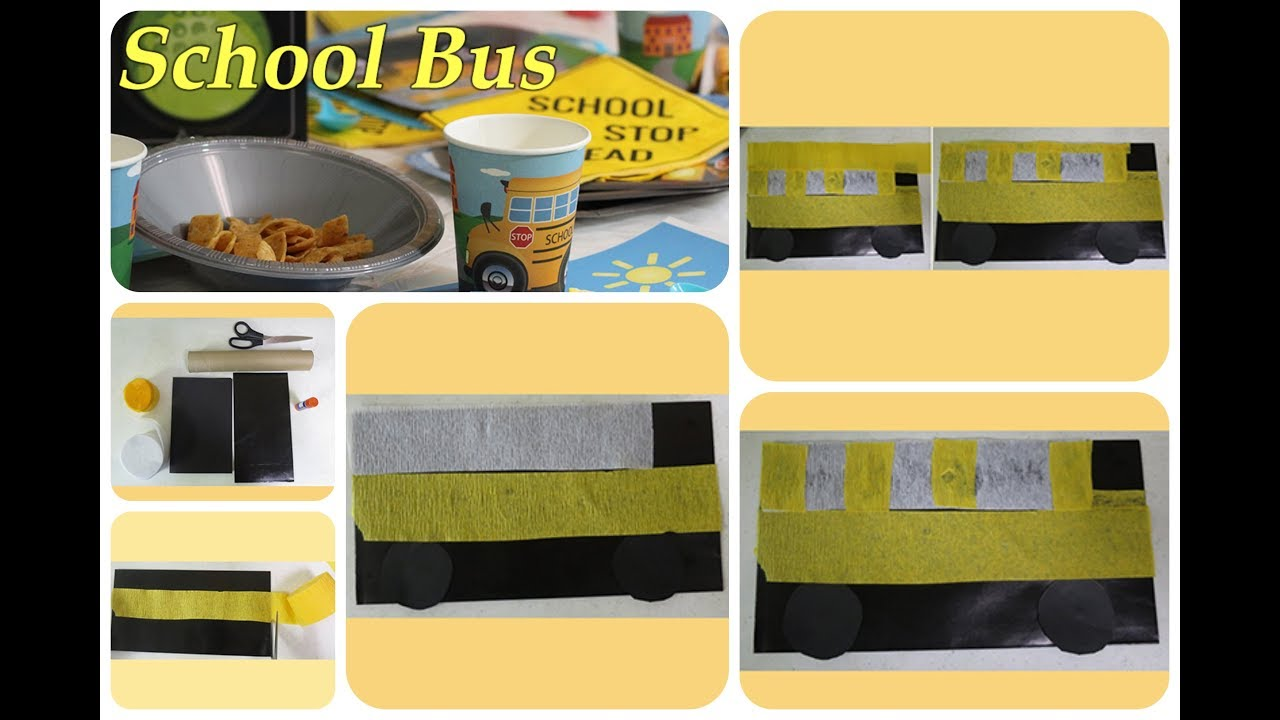 How To Make A School Bus Favor Bag Back To School Party Ideas 6