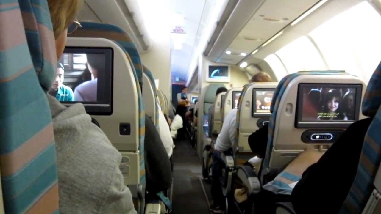 Oman Air A330 300 Cabin View Fra Mct Bkk Youtube