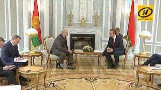 Президент Беларуси провёл встречу с главой правительства Сербии