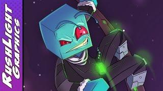RushLight Invader - Minecraft SpeedArt