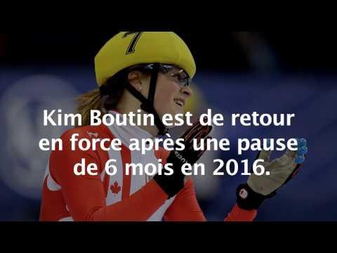 La patineuse de vitesse Kim Boutin a trouvé l'équilibre