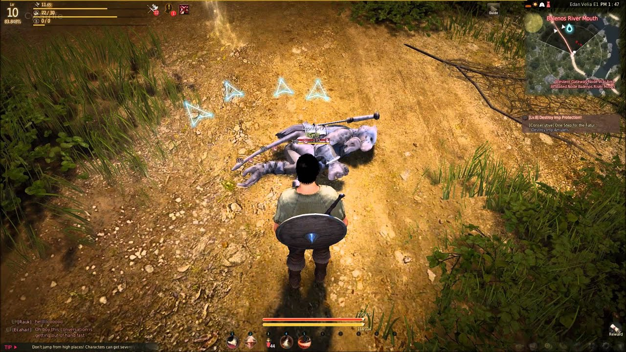 Black Desert NA - Free Roam Gameplay #1 - Warrior-  Combat showcase - PC