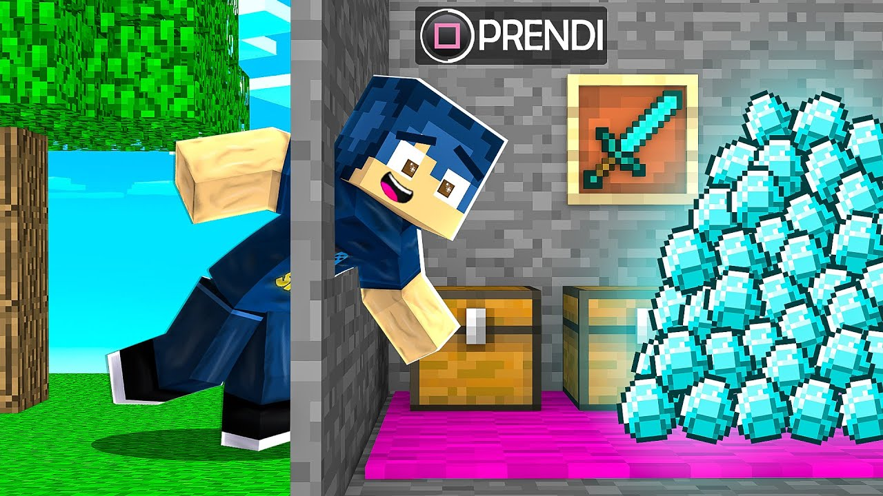 USO I CHEAT PER NASCONDERE I DIAMANTI DAI MIEI AMICI! - MINECRAFT