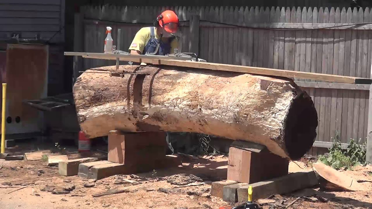 Zci Woodworks Cutting Logs For Live Edge Furniture Youtube
