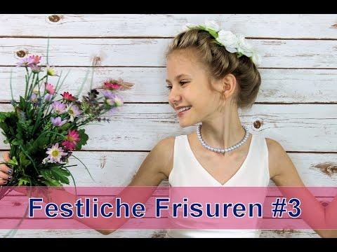 Festliche Frisuren #3 Kommunion Hochzeit Blumenmädchen