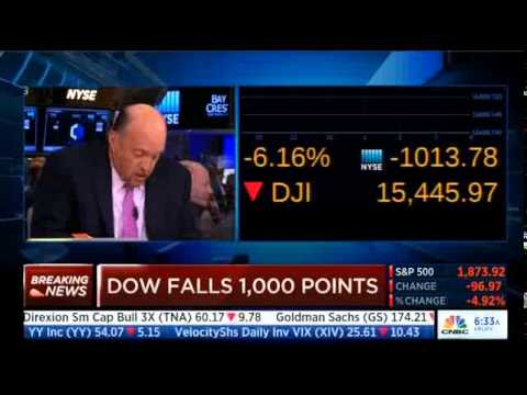 CNBC: Dow Plummets Over 1,000 Points at the Open - YouTube