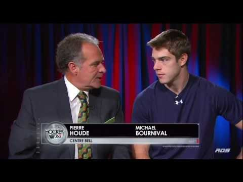 Pierre Houde Interviews Michael Bournival On RDS Hockey 360. September 26th 2013