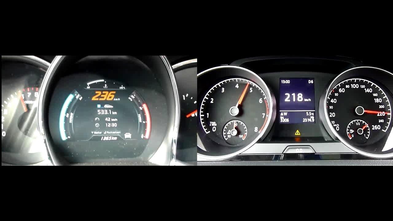 Model 2013 Kia Pro Ceed GT 16 TGDI 204hp Vs 2012 Vw Golf 7