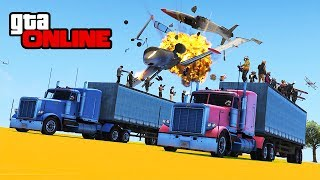 ANGRY PLANES VS 30-PLAYER ARMY! || GTA 5 Online || PC (Funny Moments)